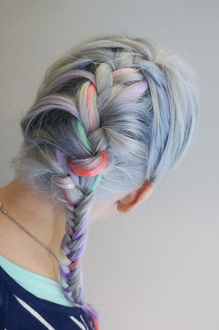 Braid with pastel colours - Saara Sarvas