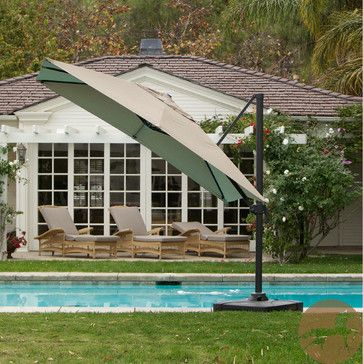 Christopher Knight Home Geneva 9.8 Foot Umbrella with Stand contemporary outdoor umbrellas  Jane ... two square offset umbrellas