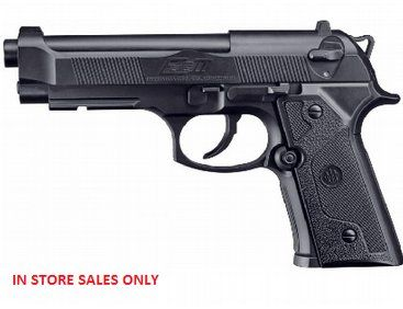 The Umarex Beretta Elite Black is a Co2 powered air pistol ideal for target shooting.  This is the high-power model in the line of CO2-powered handguns. With its enormously high muzzle velocity it makes shooting 4.5 mm BBs lots of fun.