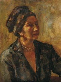 Portrétní paní Pelcové study by Alois Fisarek