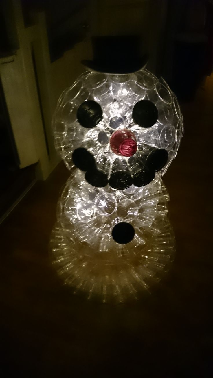 Vinterlampe til gangen Snowman lamp for the hallway