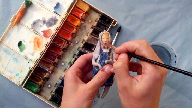 Мы распишем игрушку акварелью и я расскажу про нюансы росписи ватной игрушки