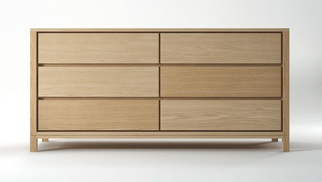 SOLID CHEST 6 DRAWERS - OAK