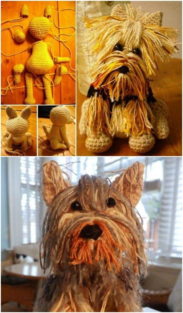PROJECT #027: AMIGURUMI DOG WITH DIY FUR | Crochet dog, Cute ... | 1065x622
