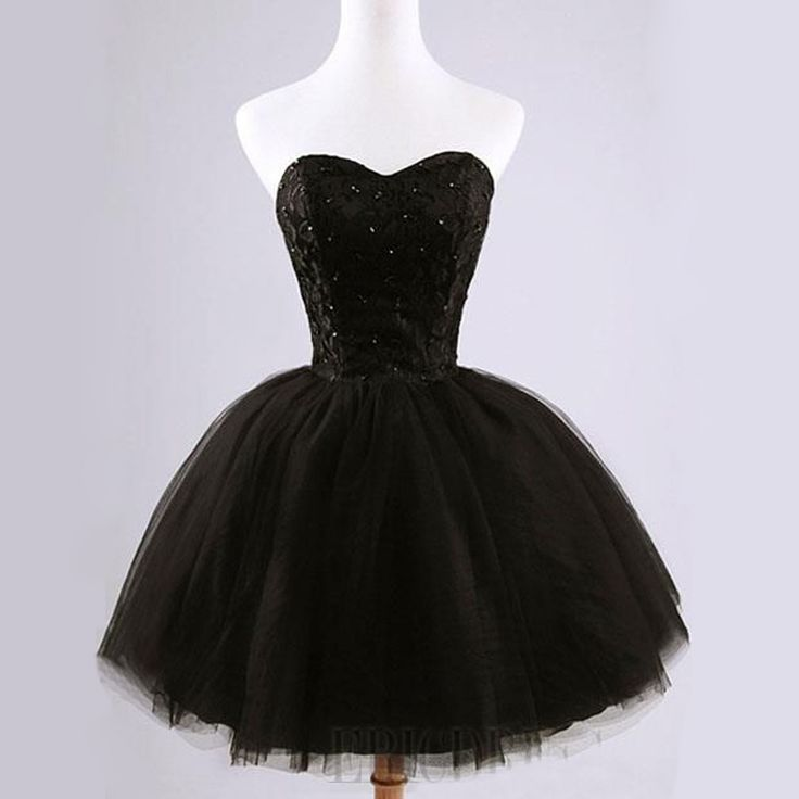 Sweetheart Tulle Lace Little Black Short Homecoming Dresses, BG51440 The dresses are fully lined, 8 bones in the bodice, chest pad in the bust, lace up back or zipper back are all available. This dres