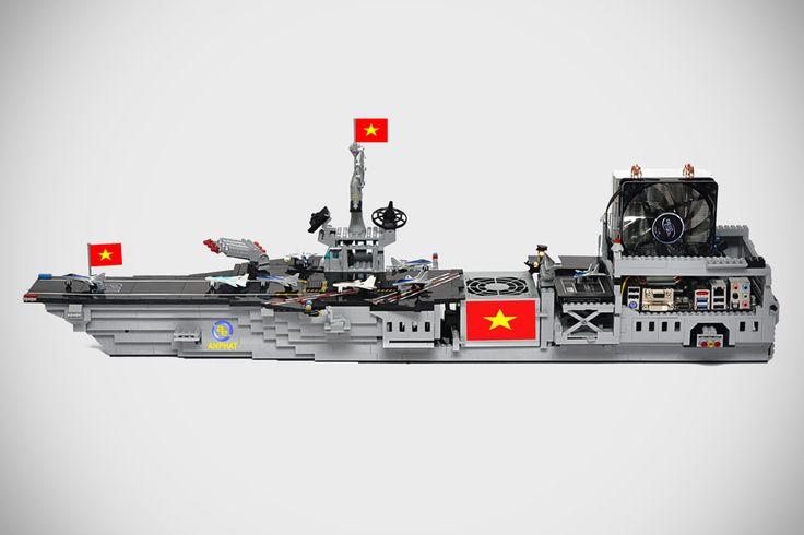 Custom LEGO Aircraft Carrier PC by An Phát Computer