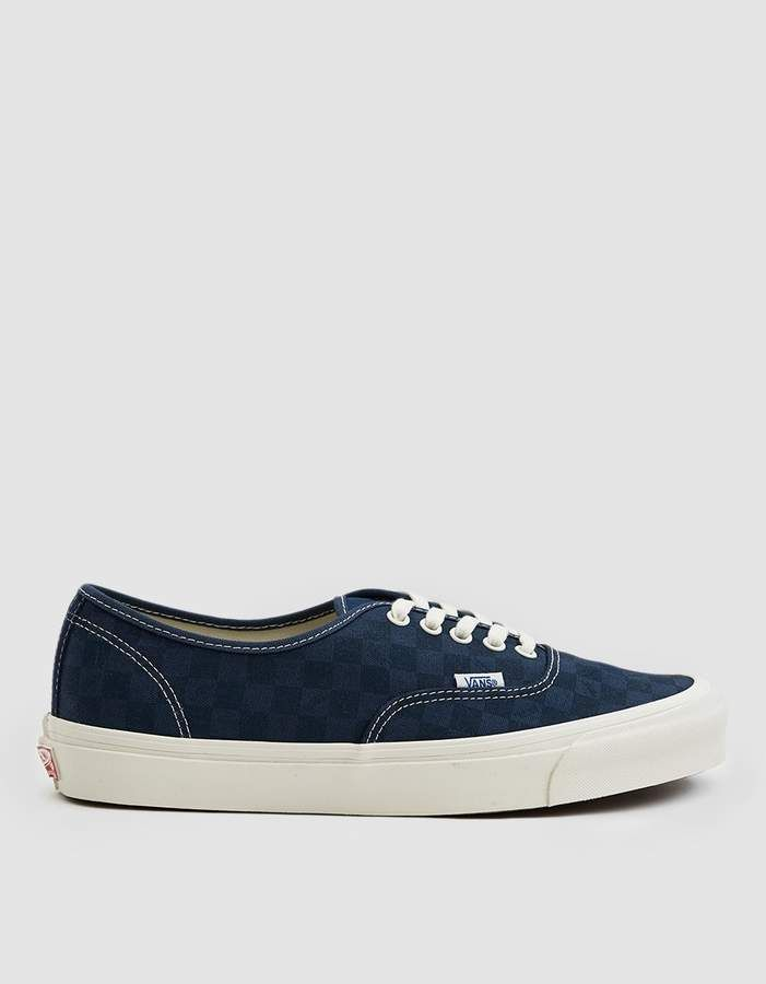 7c89dcdf48 Vans Vault By OG Authentic LX Sneaker in Checkerboard Majolica Blue ...