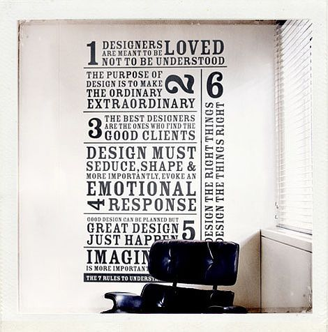 7 Rules for designers
