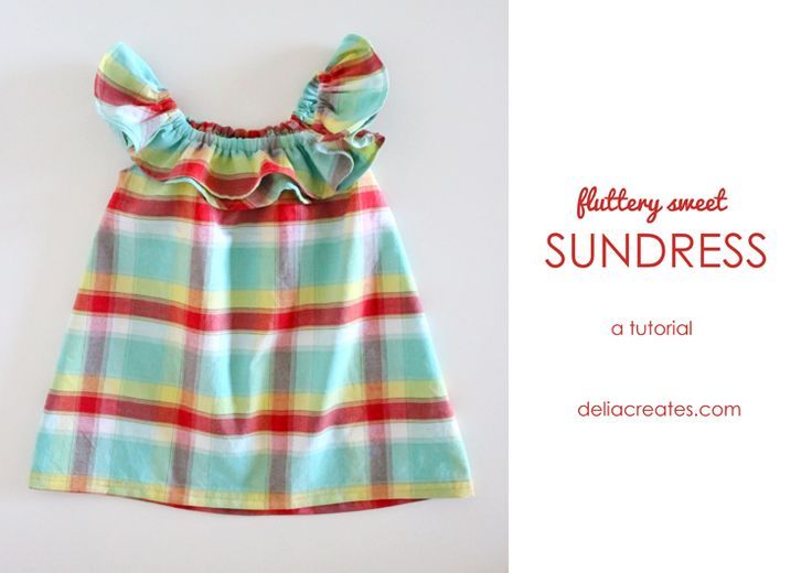 Fluttery Sweet Sundress #sewing tutorial for an easy #summer coverup.