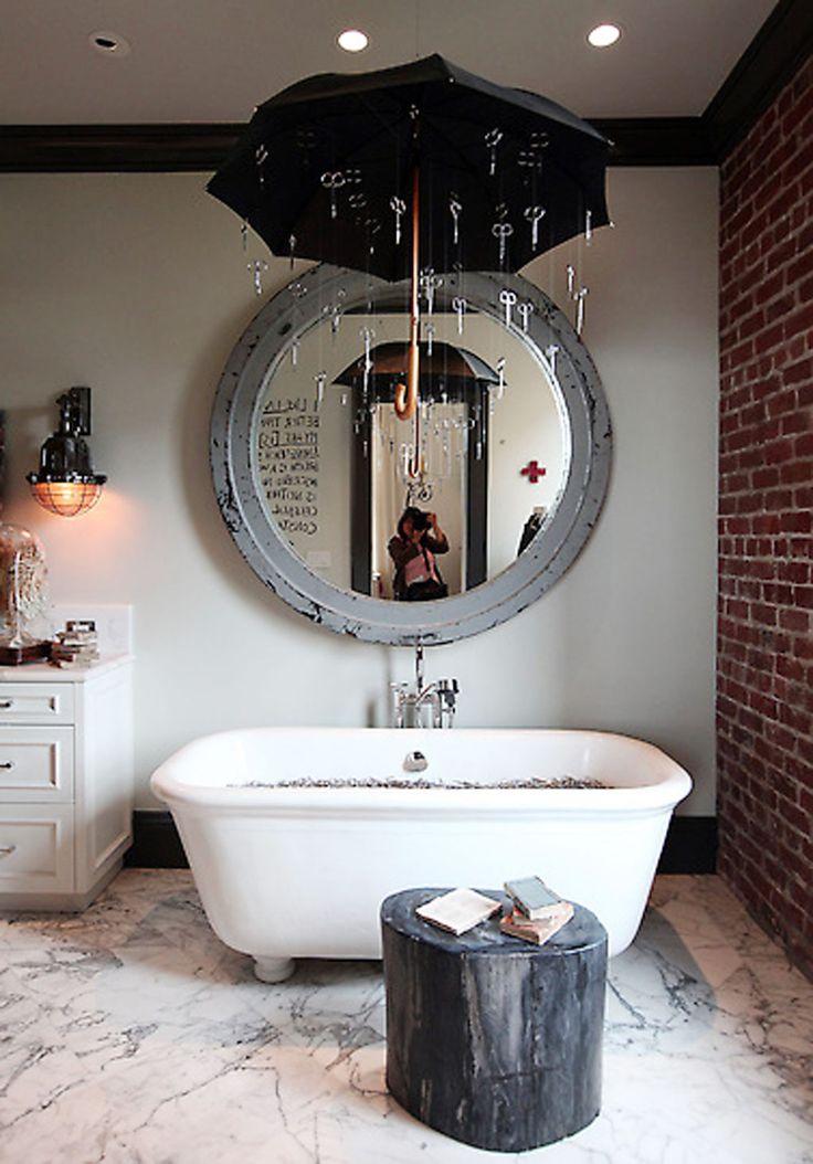 how to make a small half bathroom look bigger