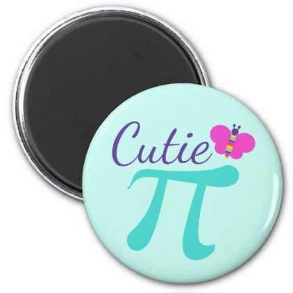Cutie Pi Symbol Math Pun Magnet - home gifts ideas decor special unique custom individual customized individualized