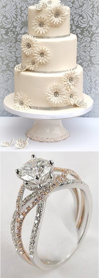 Sparkling Wedding Ideas — Wedding Ideas, Wedding Trends, and Wedding Galleries. love the cake.