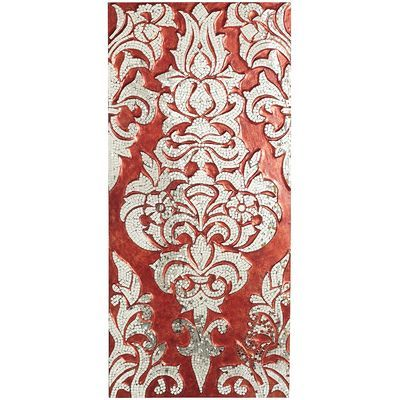 Mirrored Damask Panel - Red (this photo doesn't do the panel justice - it's a deeper red, burgandy and the silver has more sparkle)