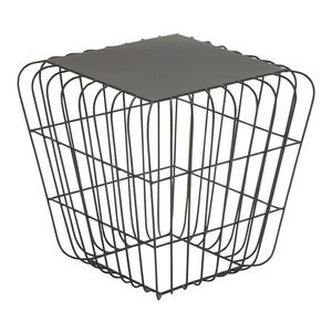 Brimfield & May - Metal Side Table, Gray - Outdoor Side Tables