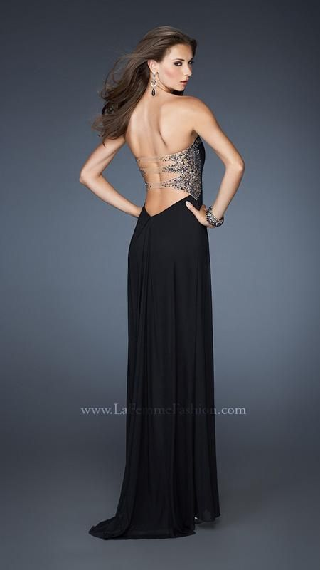 { 18931 | La Femme Fashion 2013 } La Femme Prom Dresses - Illusion Back Straps - Sweetheart Strapless - Beaded Embellishments