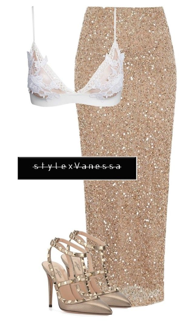 Untitled #611 by vanessa-antar on Polyvore featuring polyvore fashion style River Island For Love & Lemons Valentino clothing