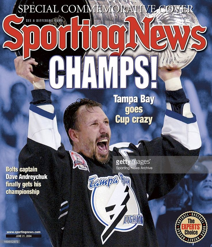 Tampa Bay Lightning Captain Dave Andreychuk - Stanley Cup Champions - June 21, 2004.