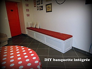 DIY built-in bench/ Tuto banquette intégrée
