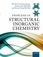"""Problems in Structural Inorganic Chemistry"" Wai-Kee Li ... [et al.]. This book consists of over 300 problems (and their solutions) in structural inorganic chemistry at the senior undergraduate and beginning graduate level. The topics covered comprise Atomic and Molecular Electronic States, Atomic Orbitals, Hybrid Orbitals, Molecular Symmetry, Molecular Geometryand Bonding, Crystal Field Theory, Molecular Orbital Theory, Vibrational Spectroscopy, and Crystal Structure. #novetatsfiq"