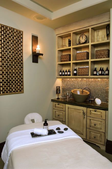 Spa Room For Mountain Home   Massage Room Setup Idea