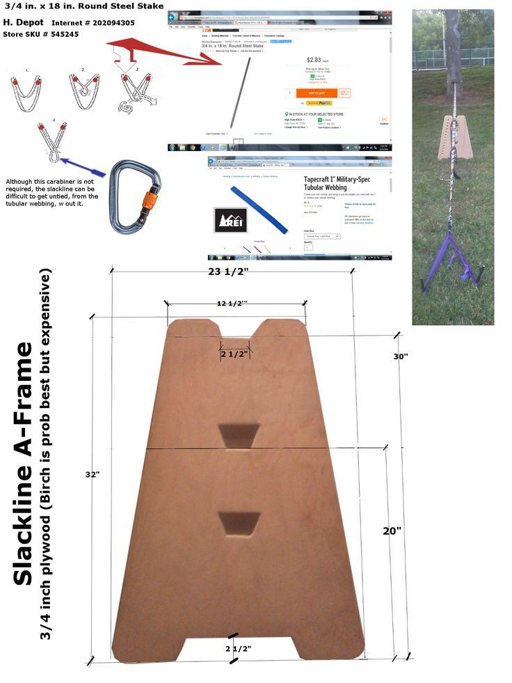 Slackline A-Frame - DIY | Slackline | Pinterest | Products ...