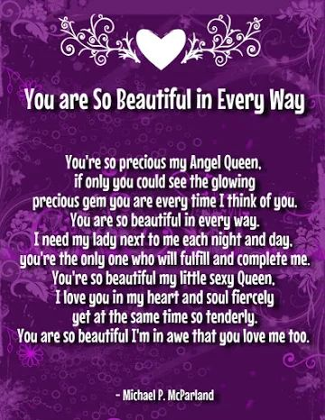 you are so beautiful poems for her