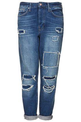 Love Ali's boyfriend jeans! MOTO Hayden Rip And Repair Jeans