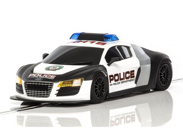 The Scalextric Audi R Police Car Black And White Is Part Of The - Audi car range