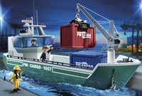 Foto: Playmobil 5253 Vrachtschip met laadkraan 50€