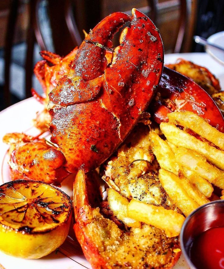 Just feed me. Immediately. Tender and succulent stuffed rock lobster with fresh herbs and lemon. Oh... and french fries. #dropsmic  . Courtesy: Surf No Turf @surfnoturf | Original via Hungry Hippie @hungryhippie_  #seafood #surfandturf #pescatarian #paleo #crab #shrimp #prawn #lobster #instagood #foodstagram #foodgasm #foodporn #beer #cerveza #bbq #barbecue #grill #grilling #heaven #chef #travel #adventure #love #feedfeed #fresh #local #firemakeseverythingbetter