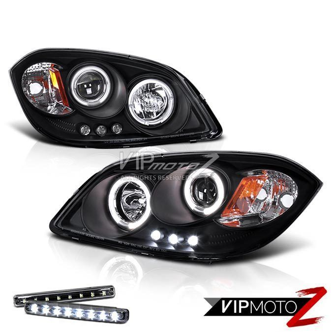 >> LED LIGHT BAR<< 2005-2010 COBALT CCFL Halo Black Headlight Left+Right Turbo #VIPMOTOZ