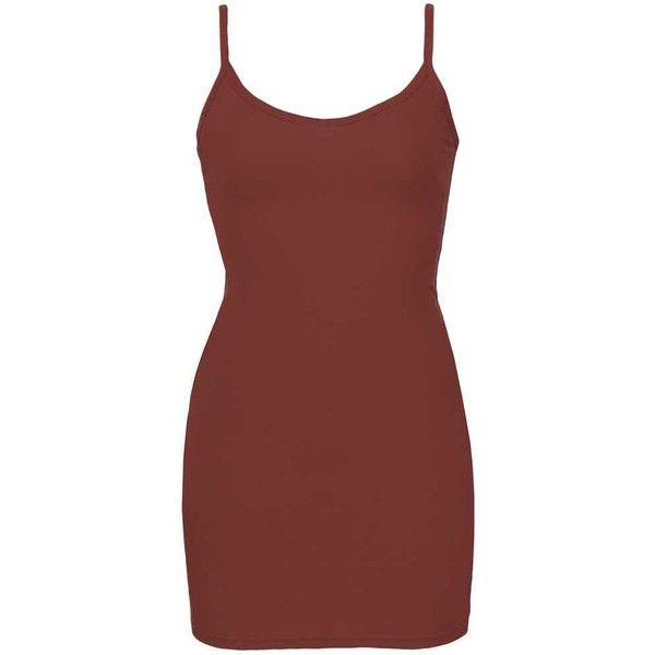 BKE Core V-Neck Extra Long & Lean Tank Top - Red Small ($14) ❤ liked on Polyvore featuring dresses and red