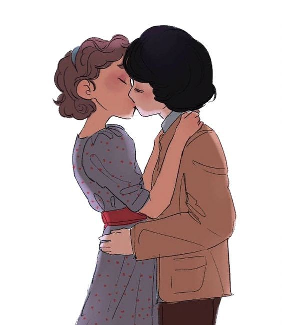 Stranger Things Season 2 Eleven and Mike Kissing