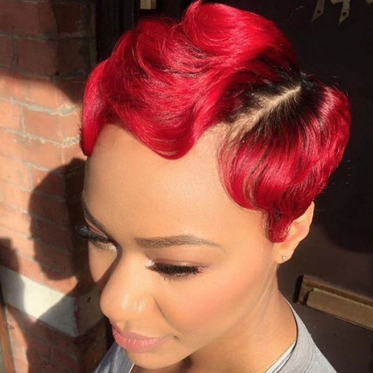 Fierce red by @michi_marshall  Read the article here - http://www.blackhairinformation.com/hairstyle-gallery/fierce-red-michi_marshall/