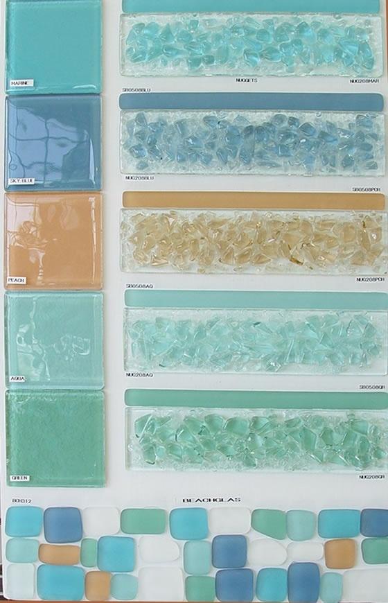 Beach glass tiles