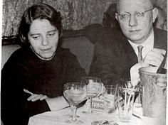 The poet Matsi Hatzilazarou and the philosopher Cornelius Castoriadis , Paris