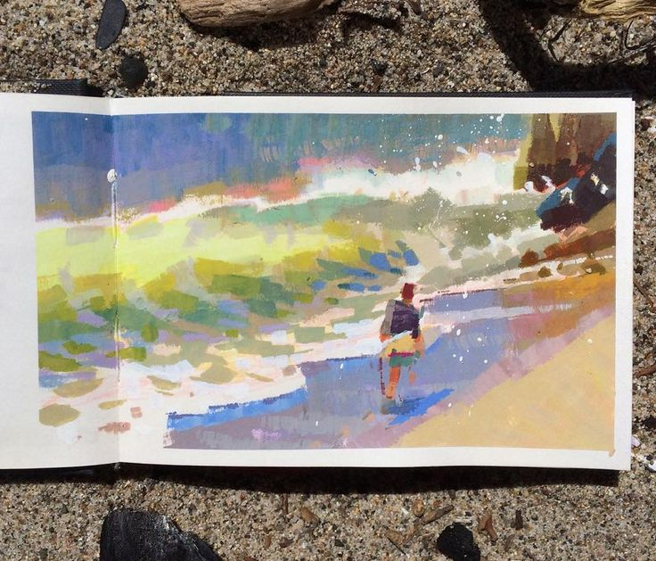 Yuchung Peter Chan Visual Development — My weekend painting at the beach~