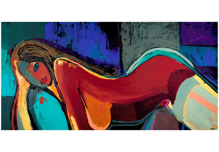 Obraz malowany 120x60 Abstrakcja 41266 - artgeist - Obrazy akrylowe #woman #art #decoration