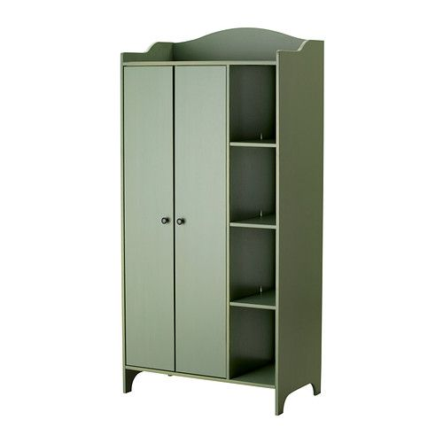 TROGEN Wardrobe   - $229 at IKEA  Perfect for dress-up. The lower bar ensures small children can reach, but it will grow with them. Plenty of storage. Paint the doors with chalkboard paint and you've got a perfect play station!