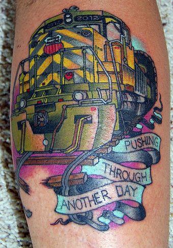 train tattoo - Pesquisa Google