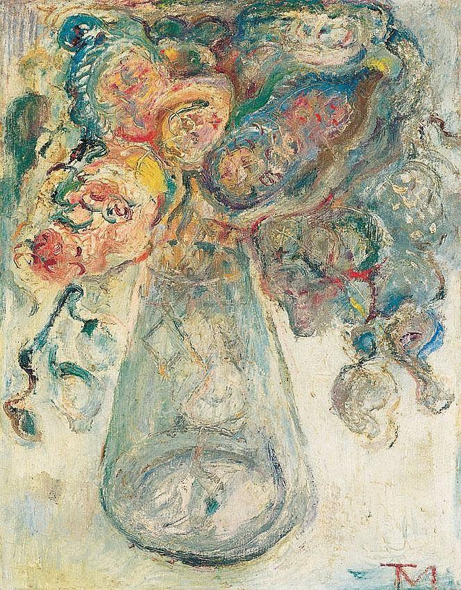 Tóth Menyhért 1904-1980 Flower Still-life 50,5×100