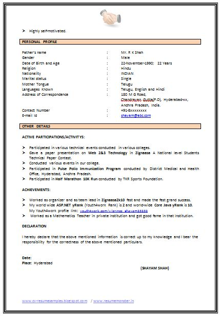 759 best Career images on Pinterest Resume templates, Sample - resume declaration format