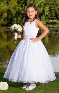 Flower Girl Dresses- Sweetie Pie Collection Style 453- White Only