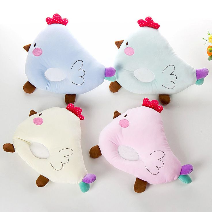 A-STYLE Super Soft Lovely Newborn Pillow Toddle Baby Pillow Velvet Chick Shaped Cartoon Pillow Memory Anti Migraine Baby Pillow