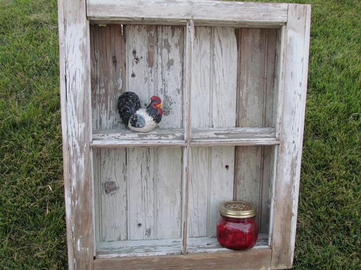Old Barn Window Shelf.