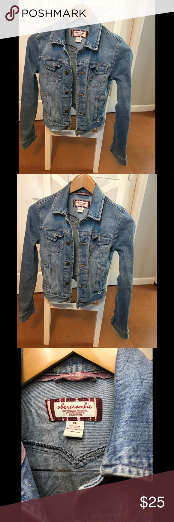 Abercrombie Girl's Jean Jacket Size XL Jean jacket girls size XL  Perfect condition  I wear a size small in women's and this fits me  Smoke free home Abercrombie & Fitch Jackets & Coats Jean Jackets