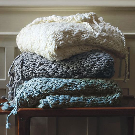 chunky knit blankies