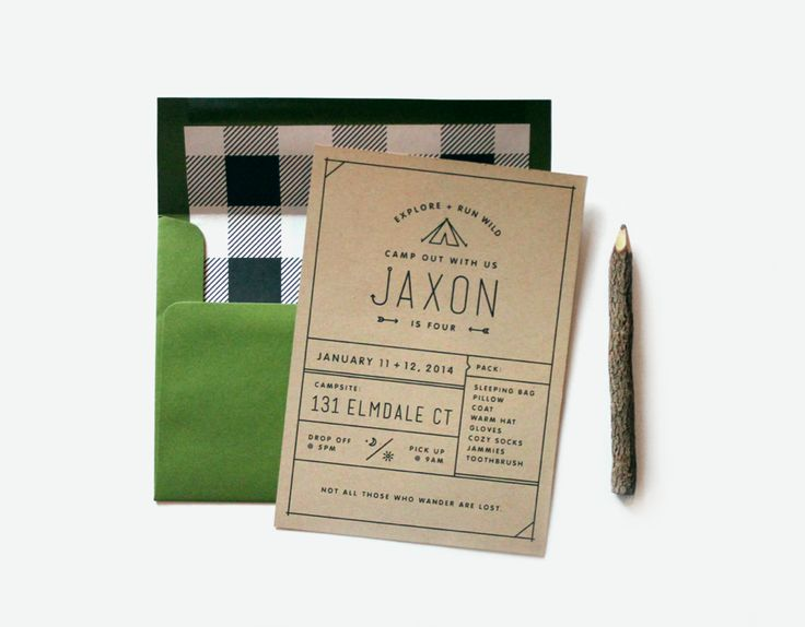 camp invitations / little frills collection from frillspaper.com