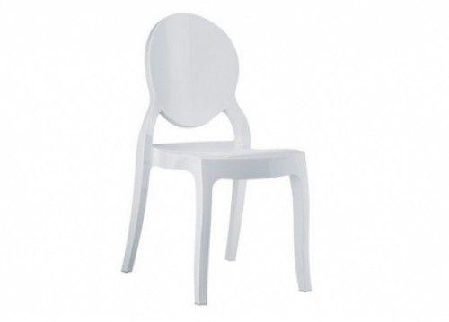 Καρέκλα λευκή γυαλιστερή