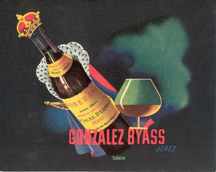 Anuncio de Soberano de González Byass. Original de Solero. / González Byass Soberano advertisement. A Solero original.